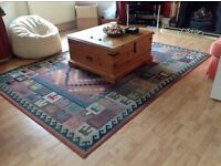 Rugs . 2 Egyptian style rugs. Lovely colours. Polypropylene. 200x285 and 120x180 cms