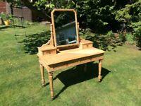 Vintage solid oak dressing table