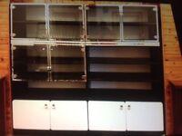Retro dining room display cabinet.