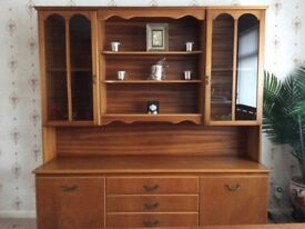Wall Unit with Glass Display Cupboards