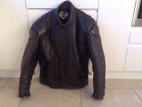 Black Leather motorcycle Jacket size 46