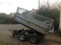 8x5 Ifor Williams tipping trailer