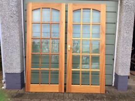 Double glazed internal doors