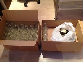 30 X 1 lb clean jam jars mostly unused direct from manufacturer.Lids if required