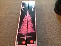 2 X 3ft pink Christmas trees
