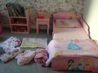 Beautuful baby girls princess first bed and furniture excellent condition was in my spare room