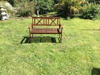 Garden. Bench