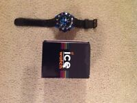 Ice-Watch Men's Quartz Watch with Black Dial Chronograph Display and Black Silicone Strap - good
