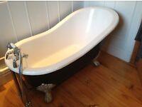 Cast iron slipper bath