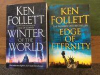 Ken Follett paper back books