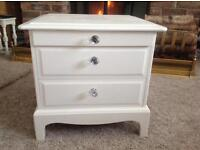 Hand painted bedside chest of drawers