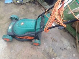 Black and Decker lawn mower electric