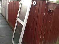 Double glazed aliminium outside door