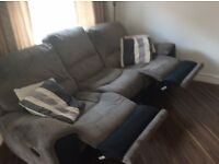 3 seater recliner sofa in grey