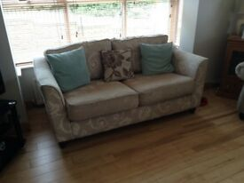 2 seater fabric sofa. Good condition. 1.9 m long.