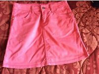 Girls pink denim skirt