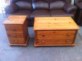 PAIR OF SOLID PINE BEDROOM CHEST OF DRAWERS \ BEDSIDE TABLE ~~ CAN DELIVER TO WEST MIDLANDS