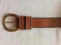 Equestrian Style Belt with Solid Brass Cast Buckle