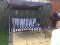 GARDEN SWING SEAT WITH CUSHIONS