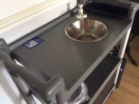 Mobile Catering Trolley with Sink - BBQs, Events, Aquarium Cleaning …