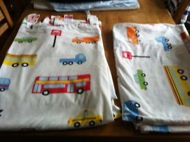 Boys Transport, curtains and toddler bed set