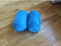 2 FULL SIZE BLUE SLEEPING BAGS IN GOOD CONDITION £10.00