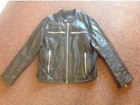 Peter Werth leather biker jacket. (Leather)