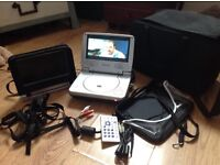 Personal DVD Player with 6 DVDs