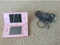 Pink Nintendo DS Lite plus games