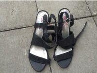 Next- miss nx heels size 8/42 sparkly/ shiny textile