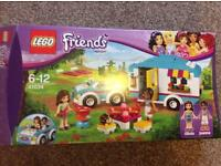 Lego friends caravan and car holiday