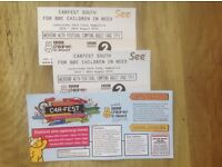REDUCED - Carfest South 2 x Weekend tickets with Festival adult camping