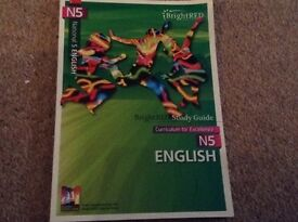 Nat 5 English bright red study guide for exams - as new