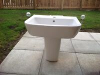 Ideal standard bathroom half pedestal and basin