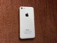 iPhone 5c white 16gb unlocked sim free grade c condition.