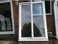 UPVC patio door and frame, in ex, cond, can deliver
