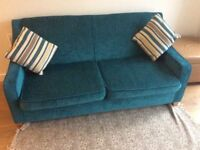 Teal blue sofa. Perfect condition.