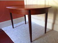 Elegant Retro Vintage G-Plan Oval Dining Table / Can Deliver