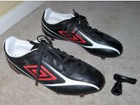 Football Boots Umbro Size 5.5 Black & Red Removable Studs