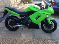 Kawasaki er6f low milage very goood condition