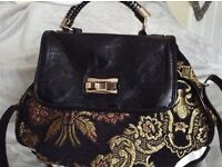 RIVER ISLAND tapestry bag shoulder or cross body clean and spacious