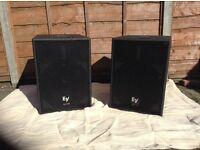 PA Speakers Ev Sba 760 powerd subwoofers (pair)