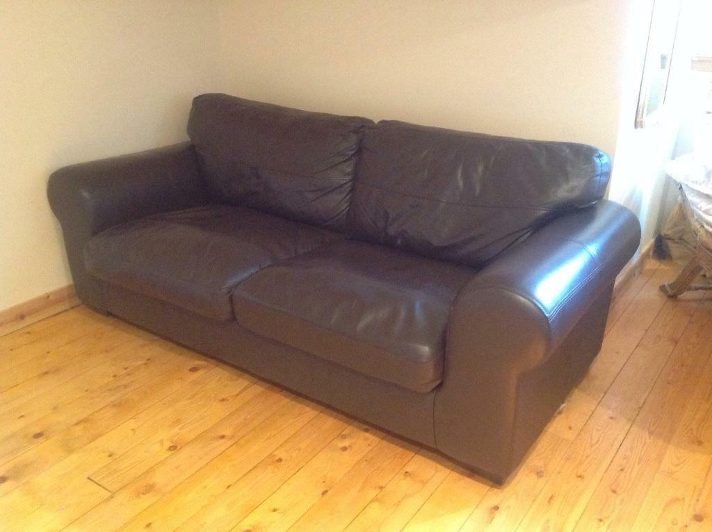 Brown Leather Sofa In Bearsden Glasgow Gumtree