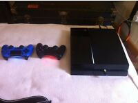 Playstation 4 (1Tb) 2 controllers with Guitar hero live, Fifa 16, Elderscrolls online