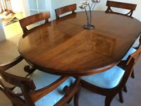 Dining Room Table, 6 Chairs and Sideboard
