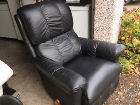 La-z-boy leather recliner chair