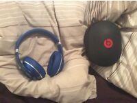 Genuine blue WIRELESS studio dre beats over ear headphones, excellent sound, quick sale available