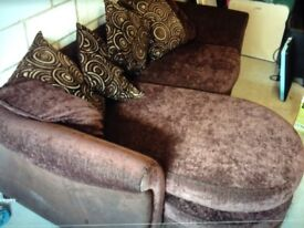 Brown DFS sofa (sold subject to collection)