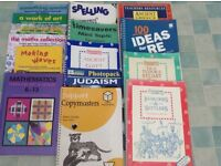 TEACHER RESOURCE BOOKS for sale KS2 & KS1. Small sample shown in photo. Perfect for NQT or student.
