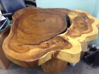 Solid Slab Acacia Wooden Table